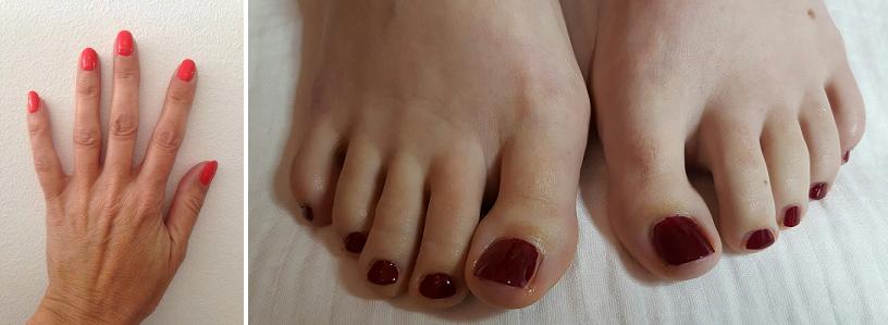 Prachtige handen en voeten met Caption gellack.